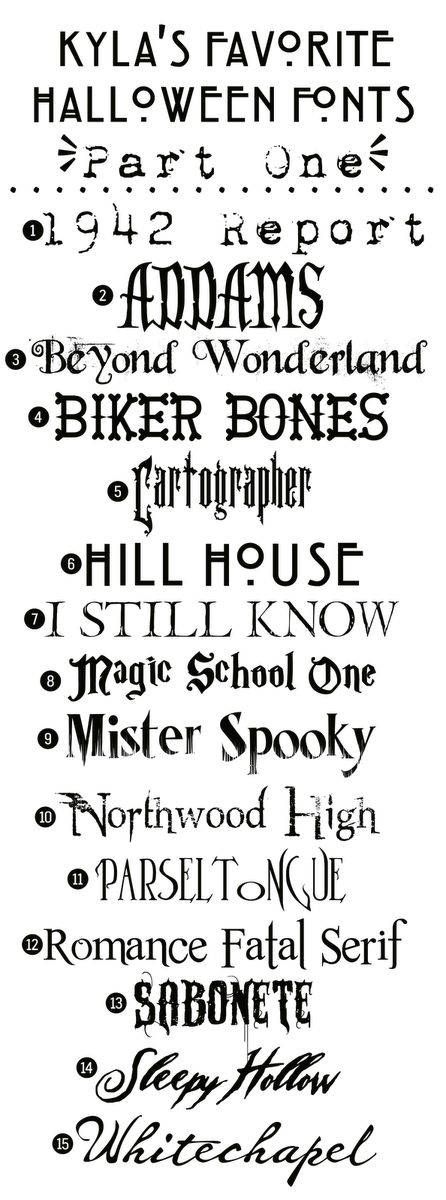 Funky Polkadot Giraffe: Kyla's Favorite Free Halloween Fonts: {Part One}