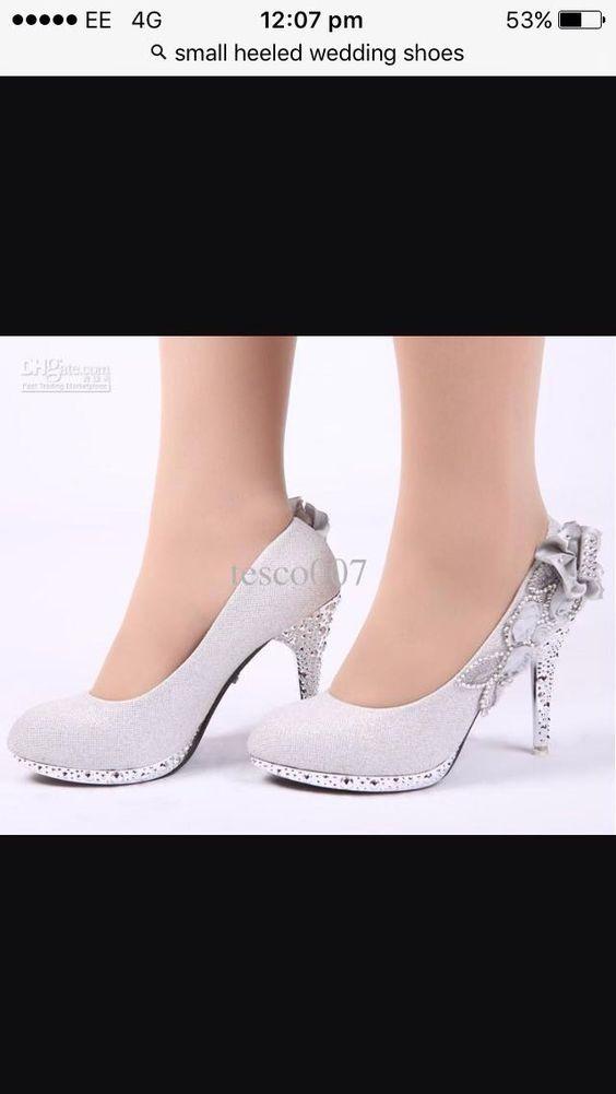Glittery silver heels