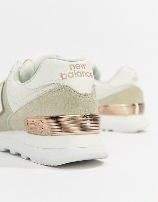 new balance 574 femme kaki gold