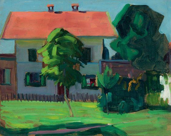 "Gabriele Münter, ""Haus in Murnau"" um 1908:"
