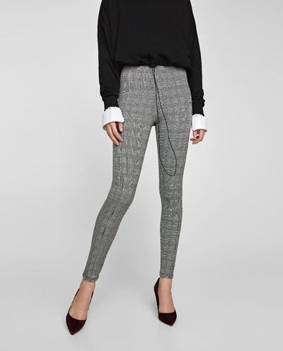Legging Cuadros Leggings Pantalones Mujer Zara Espana Pantalon Cuadros Mujer Pantalones Mujer Ropa