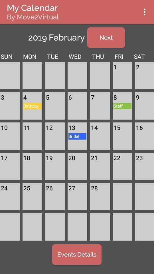 Manual Calendar App Kodular