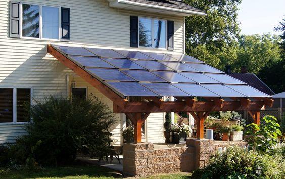 Blue Horizon Energy Solar carport 3.8kW of Silicon Energy Cascade PV modules