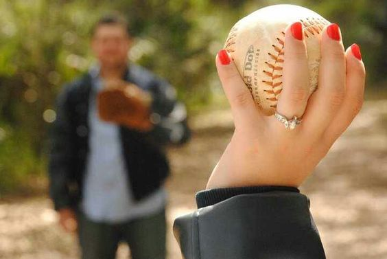 Our Baseball/Softball engagement pictures
