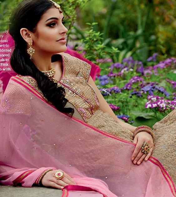 Unique Dusty Green and Pink Heavy Anarkali Suit