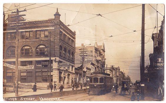 BC – VANCOUVER, Hastings Street, Bank of Hamilton c.1908-1911 RPPC