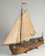 Scheepsmodel van een paviljoentjalk, een beurtschip genaamd Bolsward.