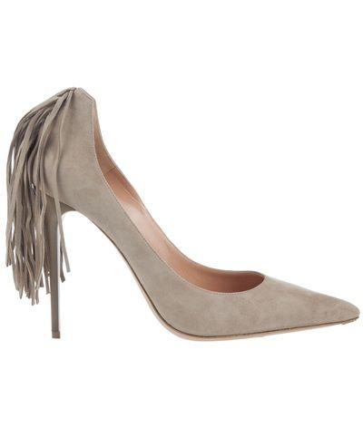 suede tassel pointed pump  by Gianmarco Lorenzi