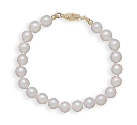 "7"" 6.5-7mm Grade A Cultured Akoya Pearl Bracelet"