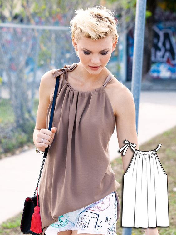 summer top sewing pattern | Burda Style For people who sew