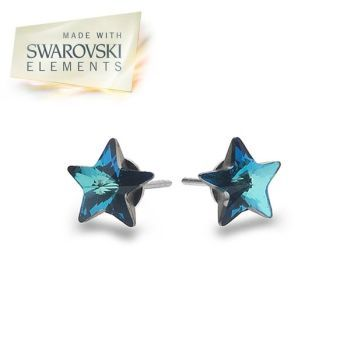 Swarovski Blue Star Studs