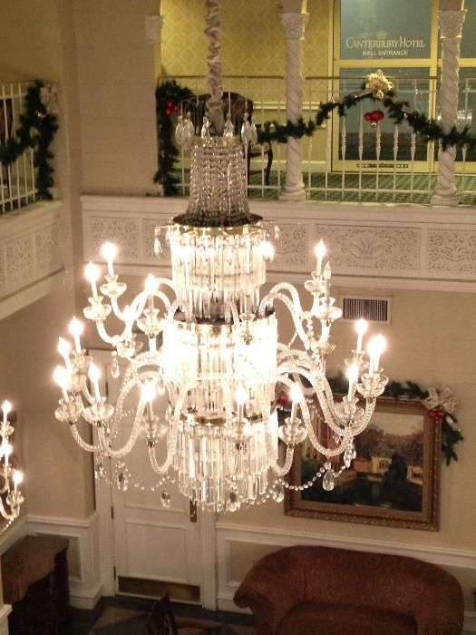 Found on estatesales massive crystal chandelier with matching crystal chandeliers mozeypictures Choice Image