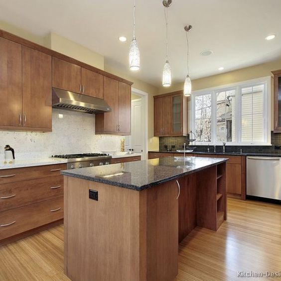 Transitional Wood Kitchen Cabinets Kitchen Cabinets Pinterest - kche schwarz matt