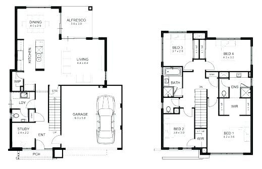 2 Storey House Designs And Floor Plans Two Storey House Floor Plan Designs Samples 2 Storey Hous Home Design Floor Plans 2 Storey House Design Two Storey House