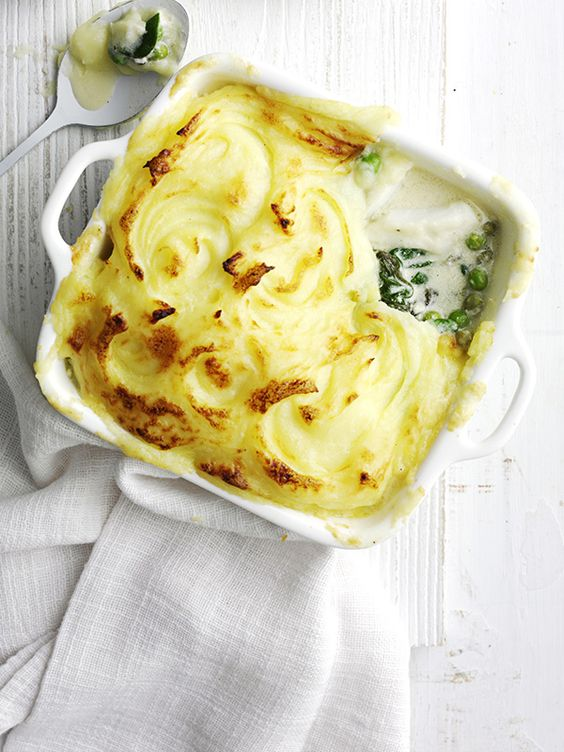 Easy fish pie: This super easy fish pie is ready in just 20 minutes and comes in under 500 calories making it perfect for a midweek meal for two