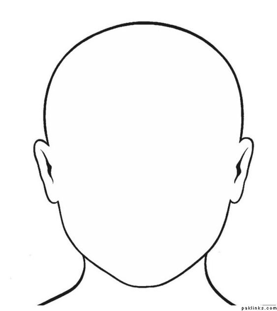 blank face outline pillow people pinterest google face template and search