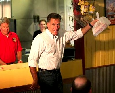 Mitt Romney Campaign Donations | Campaigning August 4, 2012 in Evansville, Indiana, Mitt Romney shows ...