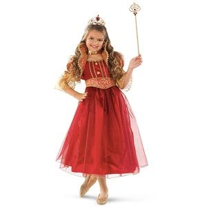 Look like royalty in the Red and Gold Princess Kids Costume! Buy it at www.OfficialPrincessCostumes.com