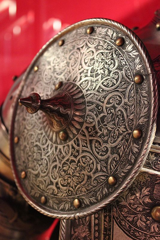detail of a besagew #shield #armor