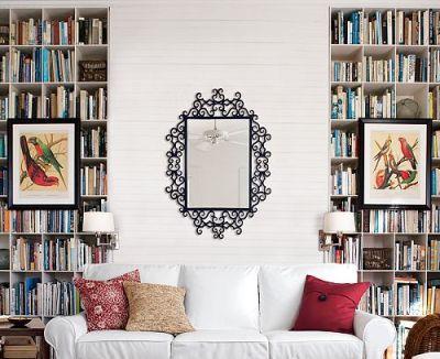 Framed art and books