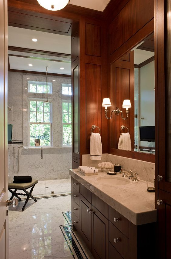 His Bathroom. His Bathroom Layout. His Bathroom Design. His Bathroom Decor. #HisBathroom SLC Interiors.