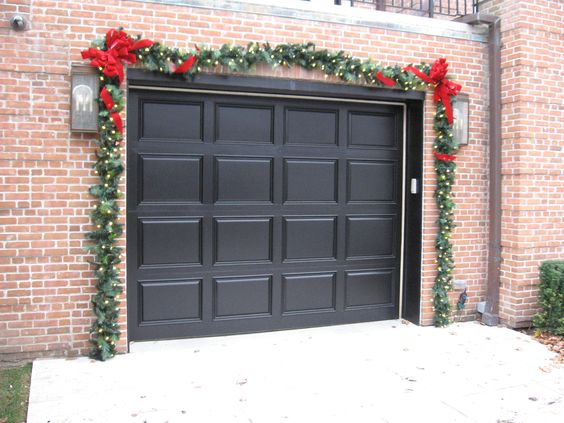 garage door garland