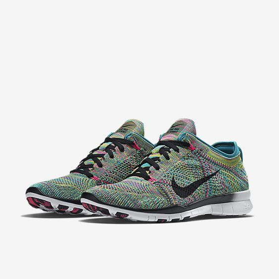 factory authentic f173e c50fb ... shop nike free tr 5 flyknit womens training shoe. in radiant emerald  pink pow 1bbc8