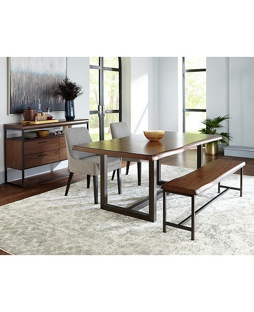 Furniture Everly Live Edge Dining Furniture Collection Created