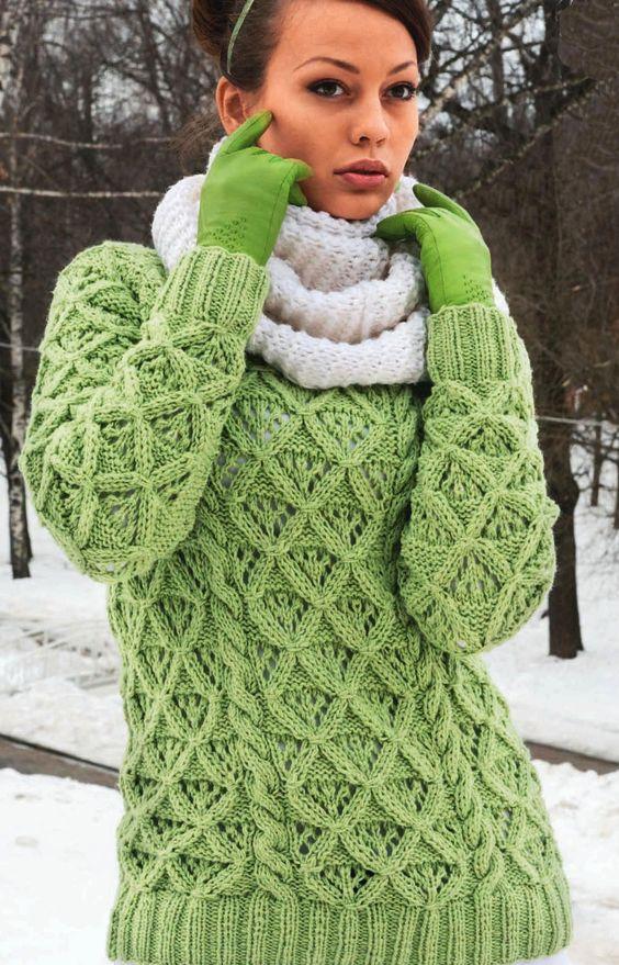 Winterpullover mit Rautenmuster  Pullover Seite 2