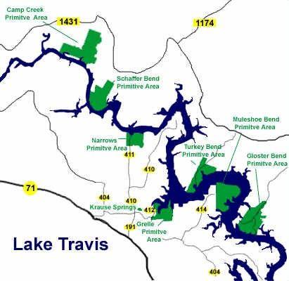 Lake travis fishing map more maps pinterest fishing for Fishing spots in austin tx