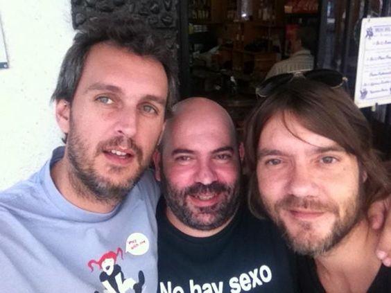 Rafa Pons, Santi Noriega y Luis Ramiro.