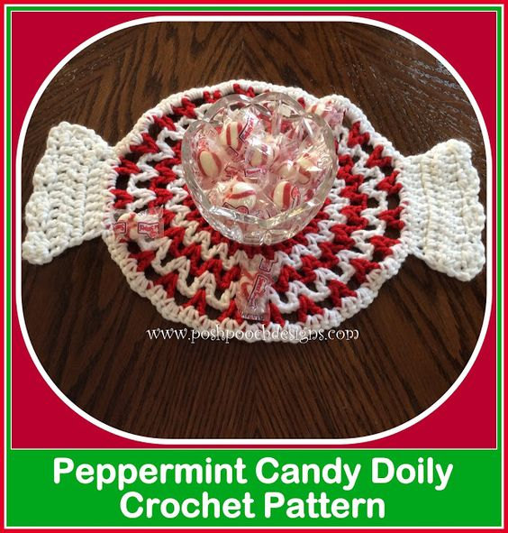 Posh Pooch Designs Dog Clothes: Peppermint Candy Doily Crochet Pattern | Posh Pooch Designs