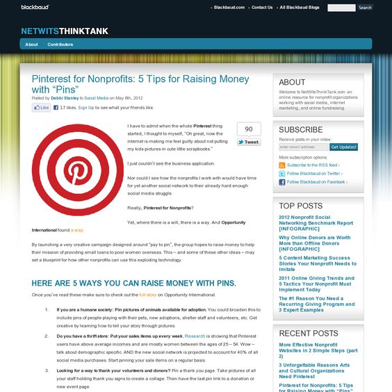 """Pinterest for Nonprofits: 5 Tips for Raising Money with """"Pins"""""""