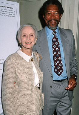 Jessica Tandy and Morgan Freeman - The 27th Annual Publicists Guild of America Awards, March 23, 1990