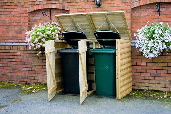 1000 Images About Garbage Can Shed On Pinterest: Sheds, Bin Storage And Trash Bins On Pinterest