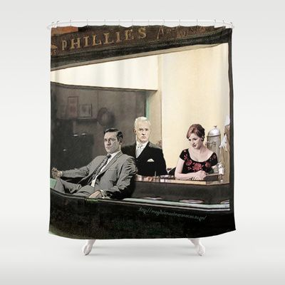 mad men characters are Hopper's Nighthawks Shower Curtain | Shower ...