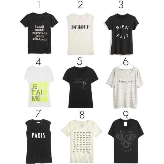 Slogan Tees, created by mystylepill on Polyvore