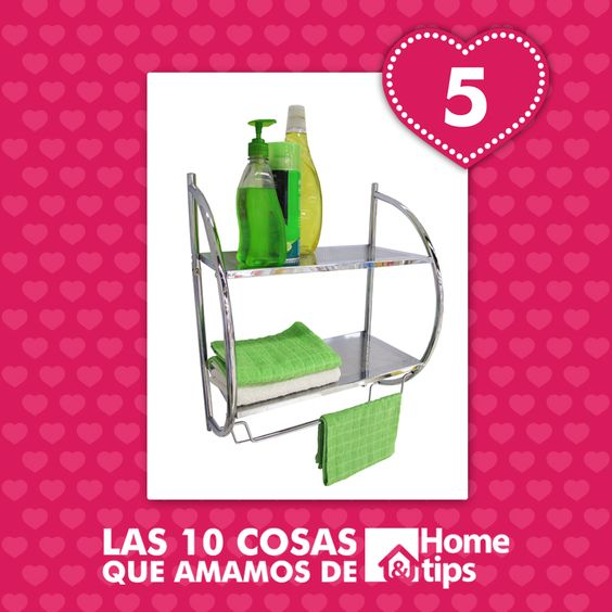 Más espacio en tu baño con esta práctica y elegante solución de Home & Tips.