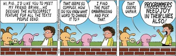 This #PearlsBeforeSwine comic explains a lot about texting grammar errors - Take a CBC grammar class to avoid errors: http://www.ed2go.com/cbc123/SearchResults.aspx?SearchTerms=grammar