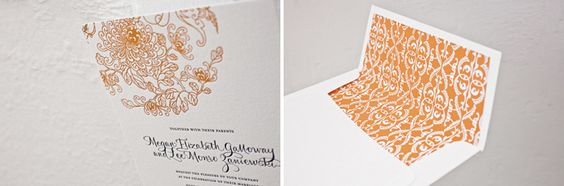 Dolce (by Amy Graham Stigler) letterpress wedding invitation