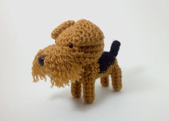 Fox Terrier Amigurumi Patron : Airedale Terrier Stuffed Animal Amigurumi Dog Crochet by ...