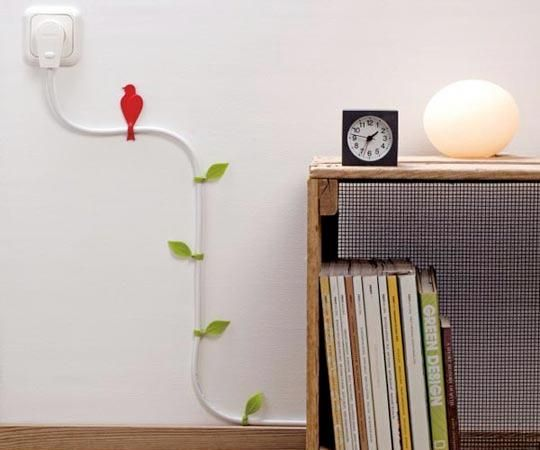 This has to be the prettiest solution for dealing with those pesky cords I've seen.