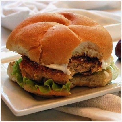 Breaded chicken burgers.. hmmm!