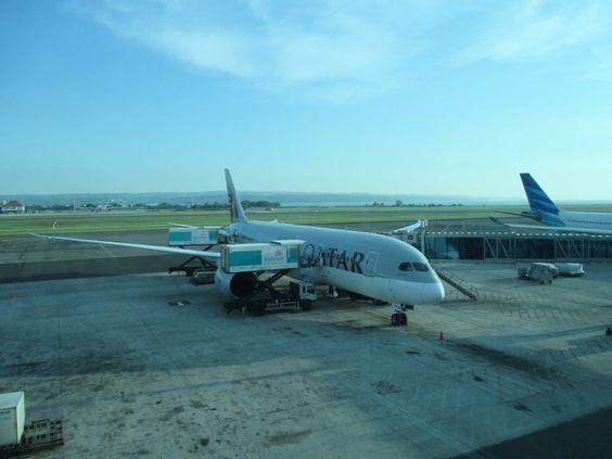 Qatar Airways flight from Viennna to Denpasar - Airline photo