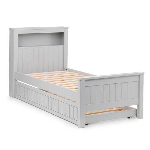 House Of Hampton Argent Single Bed Frame With Bookcase Wayfair Co Uk In 2020 Etagenbett Mit Stauraum Bettrahmen Mit Schubladen Bucherregal Bett
