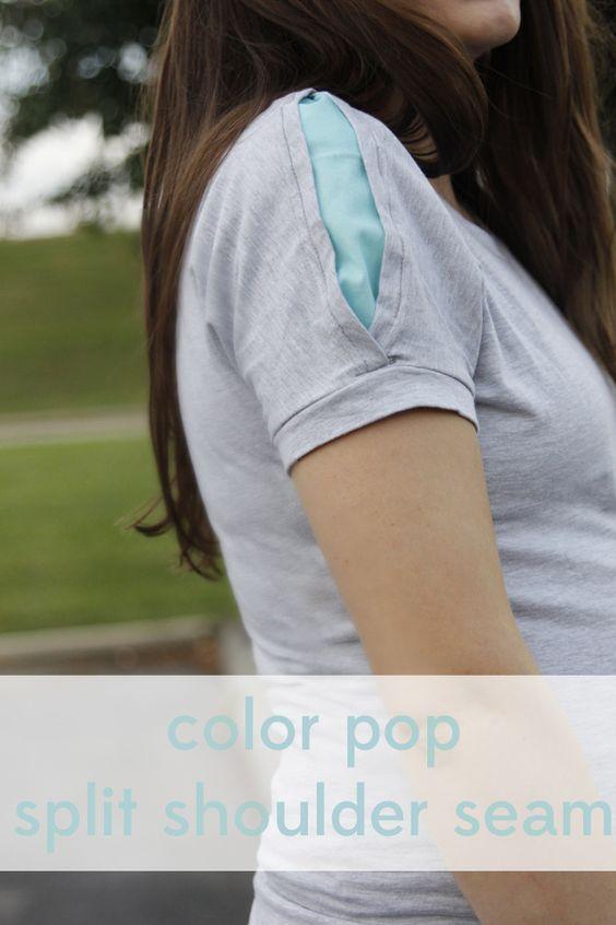 see kate sew: color pop split shoulder seam