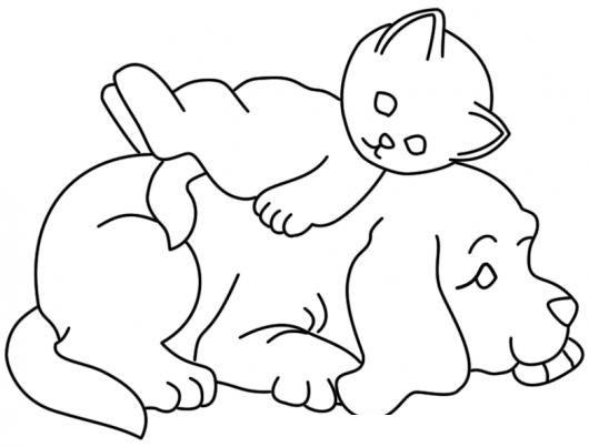 Dibujos De Perros Y Gatos Para Colorear Patchwork Infantil Bordado