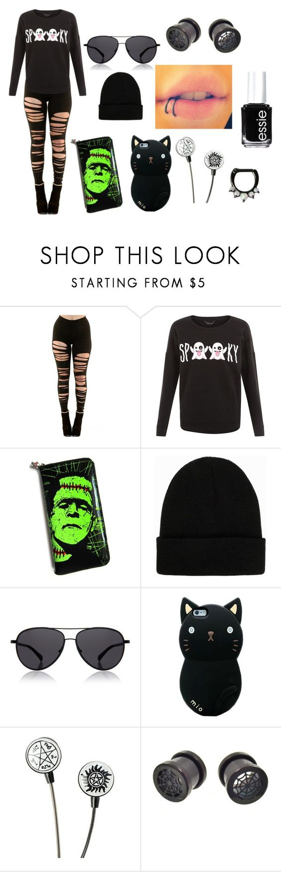 """""""Spooky"""" by abipatterson ❤ liked on Polyvore featuring NLY Accessories, The Row and Essie"""