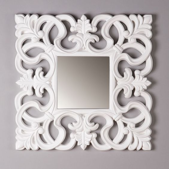 Kirby Mirror in White - Chez Couture on Joss & Main