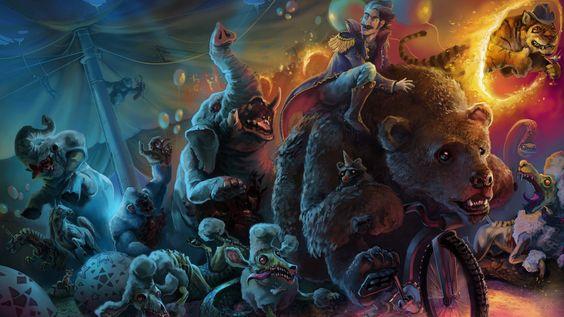 creepy carnival animals | Zombie Art, Animals, bear, creature, Dark, fantasy, funny, humor ...